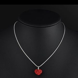 NWT❤ Crystal heart necklace